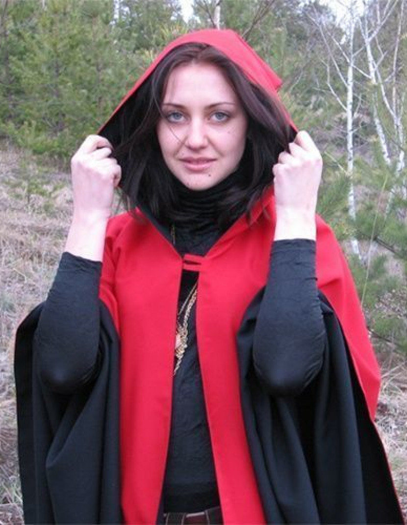 Two-sided cloak with hood photo made by Steel-mastery.com