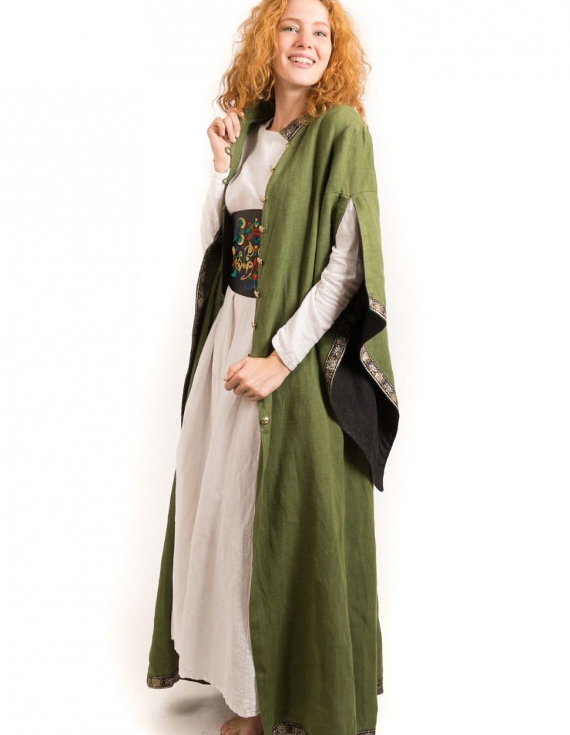 Long coat with wide sleeves  photo made by Steel-mastery.com