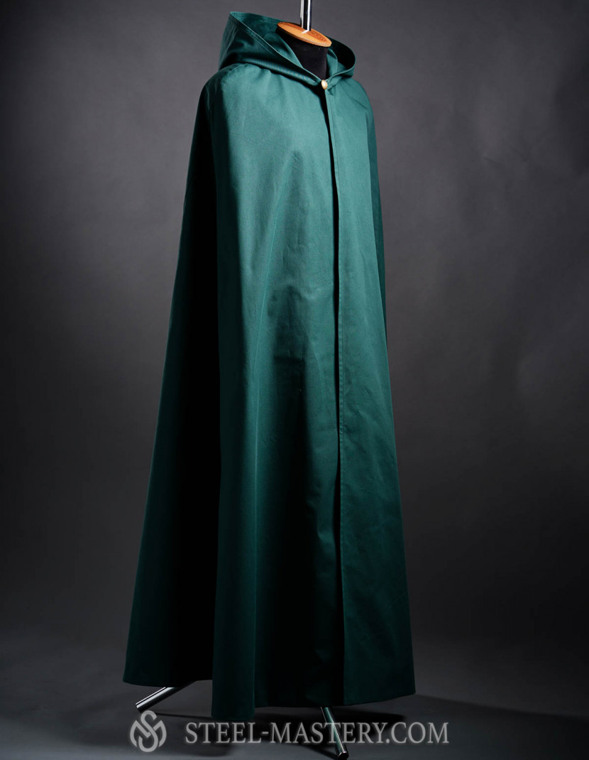 Cloak with hood, a part of fantasy-style costume  photo made by Steel-mastery.com