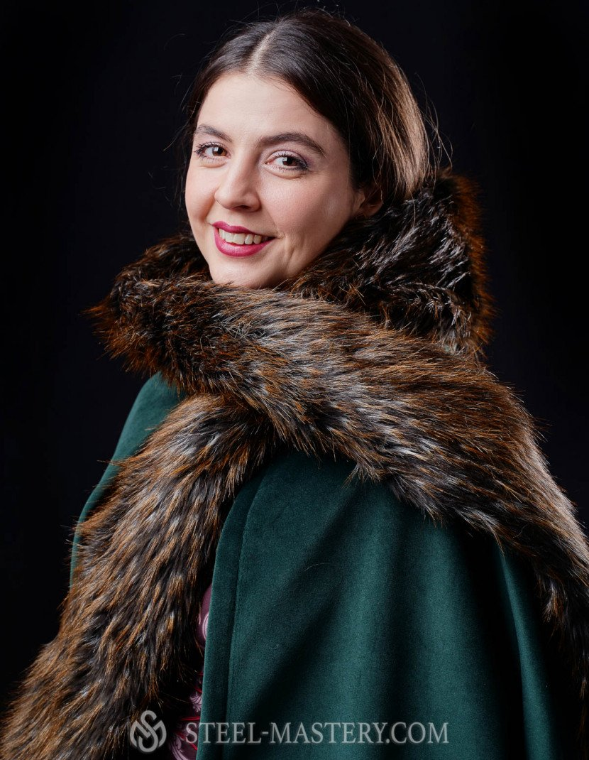 Medieval robe with detachable hood  photo made by Steel-mastery.com