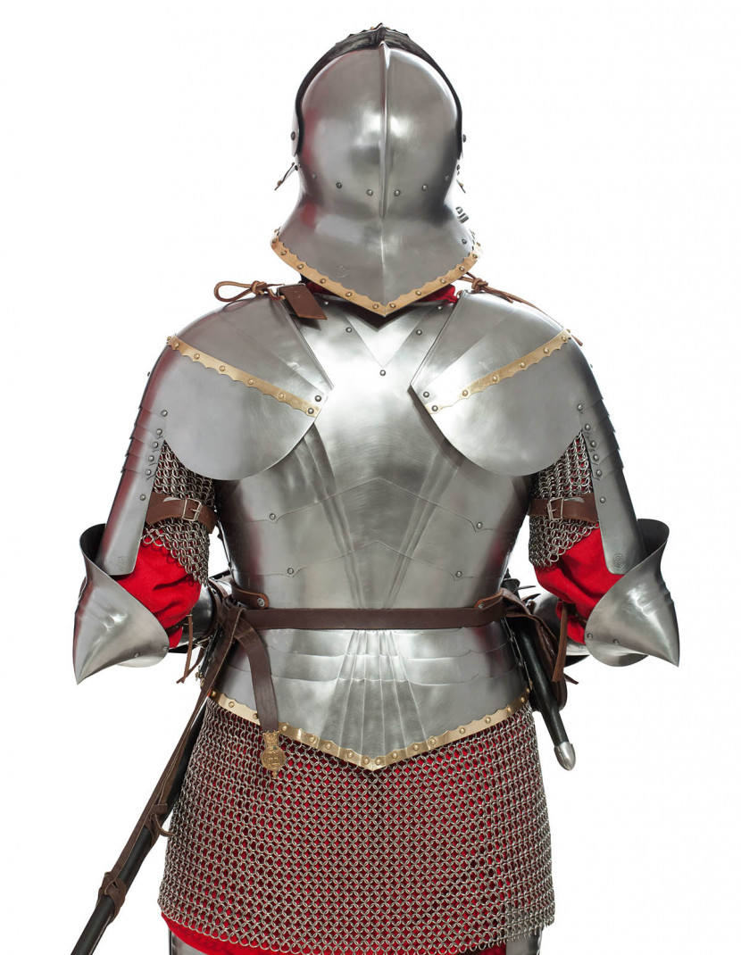 German gothic full plate armor photo made by Steel-mastery.com
