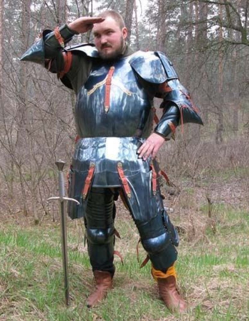 Steel English full plate armour, dated 1483  photo made by Steel-mastery.com