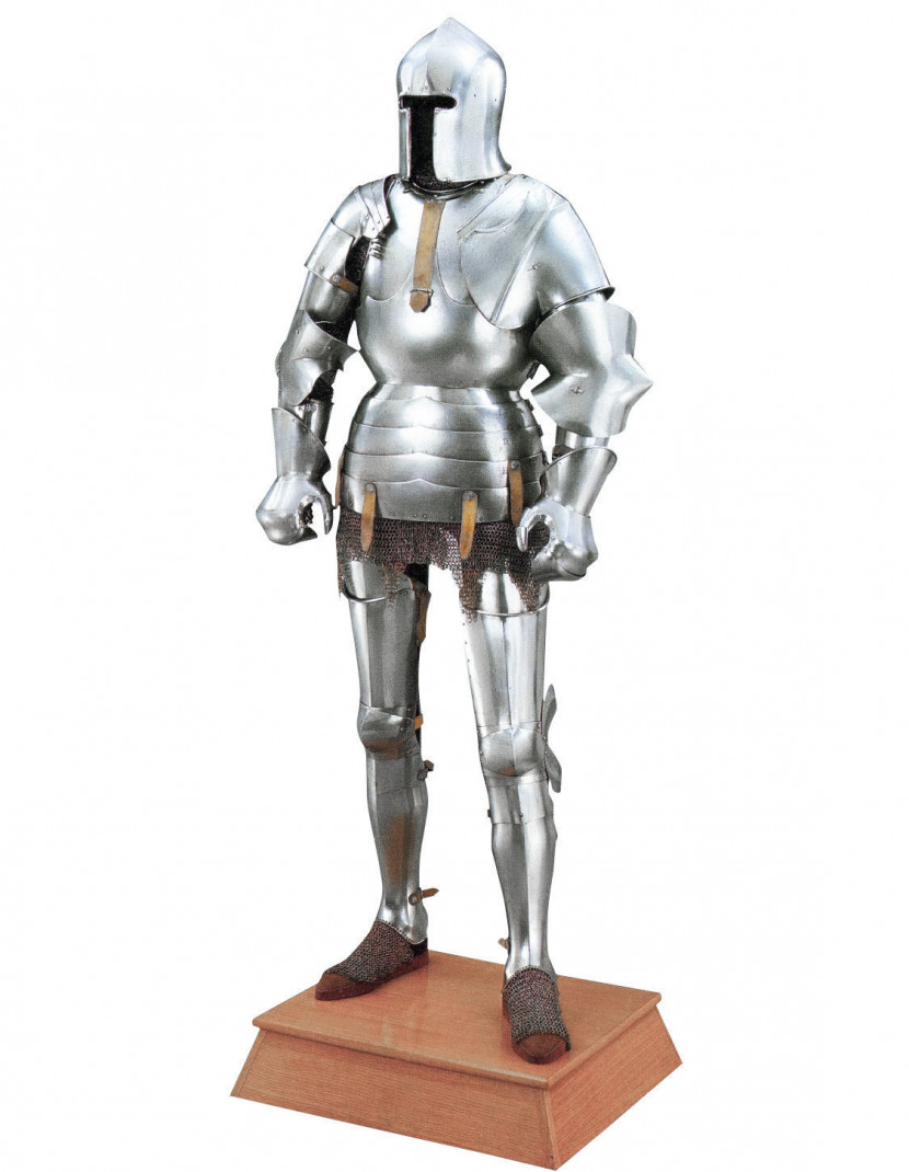 Milan-style full plate armour 1450-1485 years  photo made by Steel-mastery.com