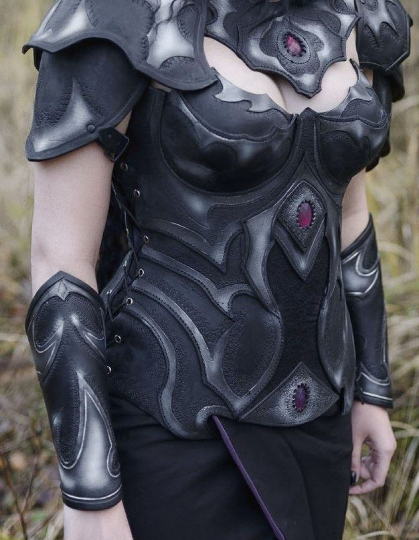 Greaves, part of female fantasy armour photo made by Steel-mastery.com