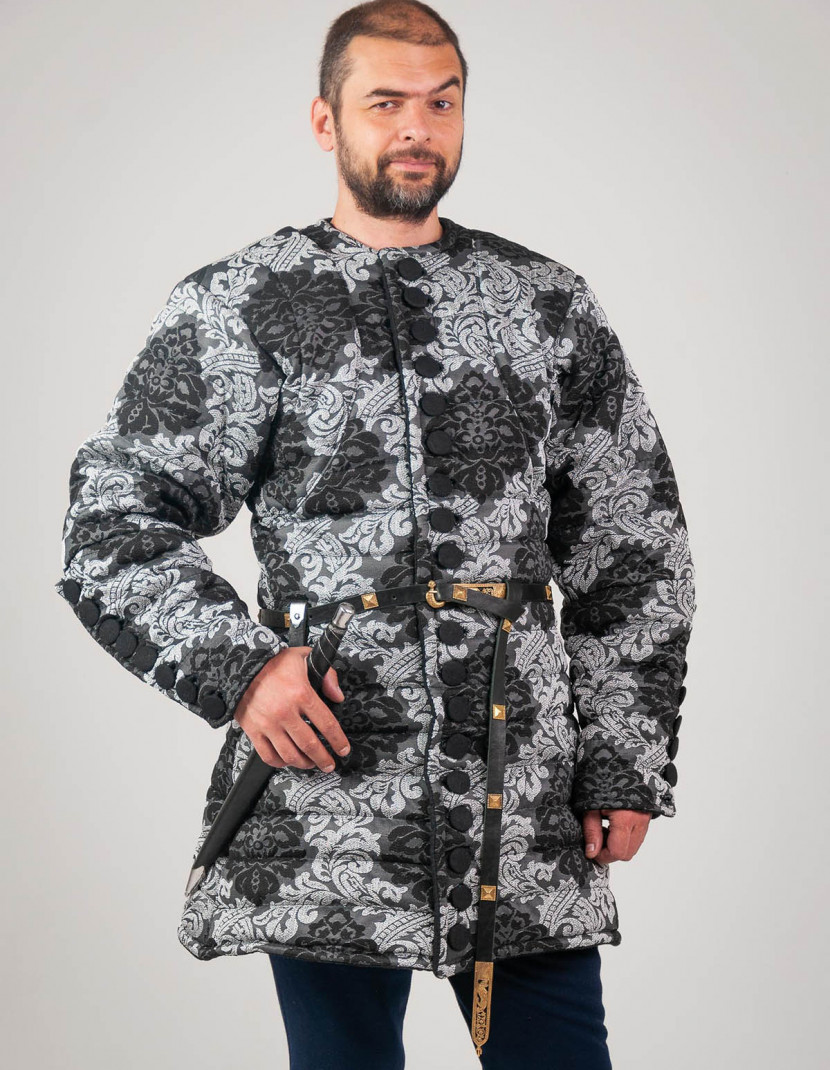 Royal gambeson of patterned fabric photo made by Steel-mastery.com