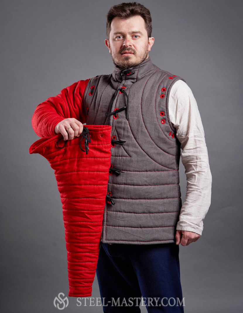 HEMA gambeson with lapped sleeves photo made by Steel-mastery.com