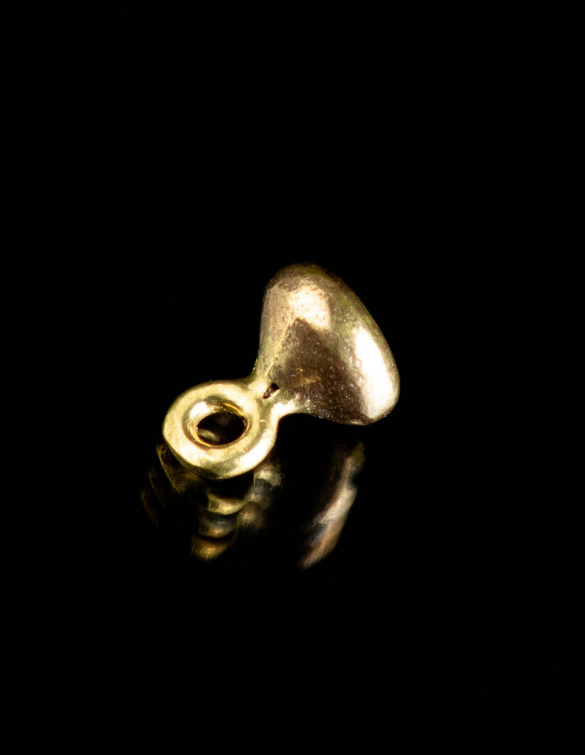 Medieval button of pearl shape, X-XV centuries photo made by Steel-mastery.com
