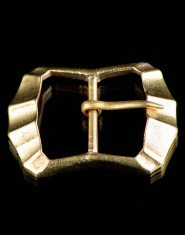 Medieval fluted buckle, XIV-XVI centuries
