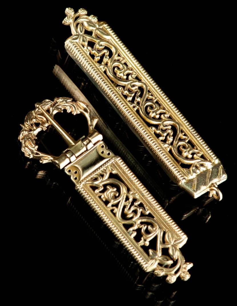Medieval belt set, XV century photo made by Steel-mastery.com