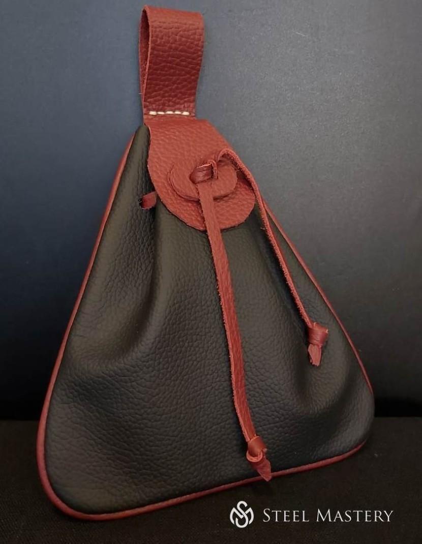 Viking Triangular Shaped Leather Belt Bag  photo made by Steel-mastery.com