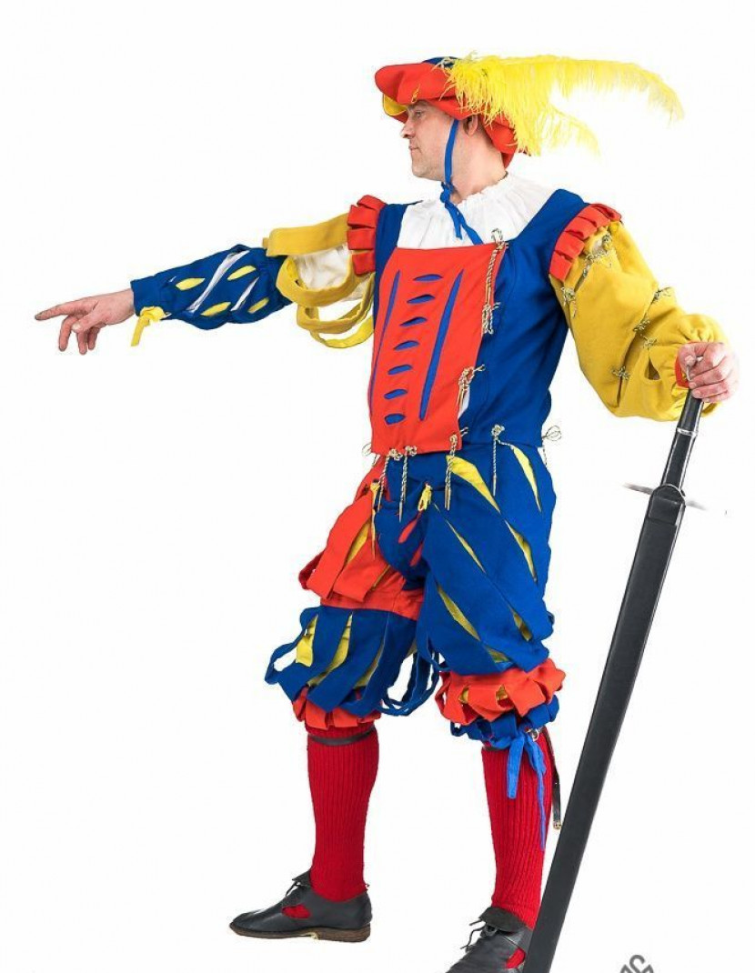 Medieval costume of landsknecht, XVI century photo made by Steel-mastery.com