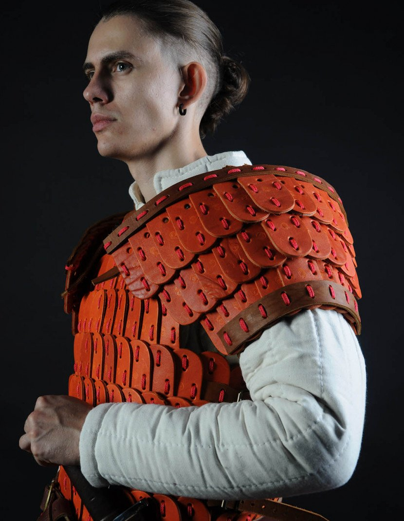 Leather lamellar armor photo made by Steel-mastery.com