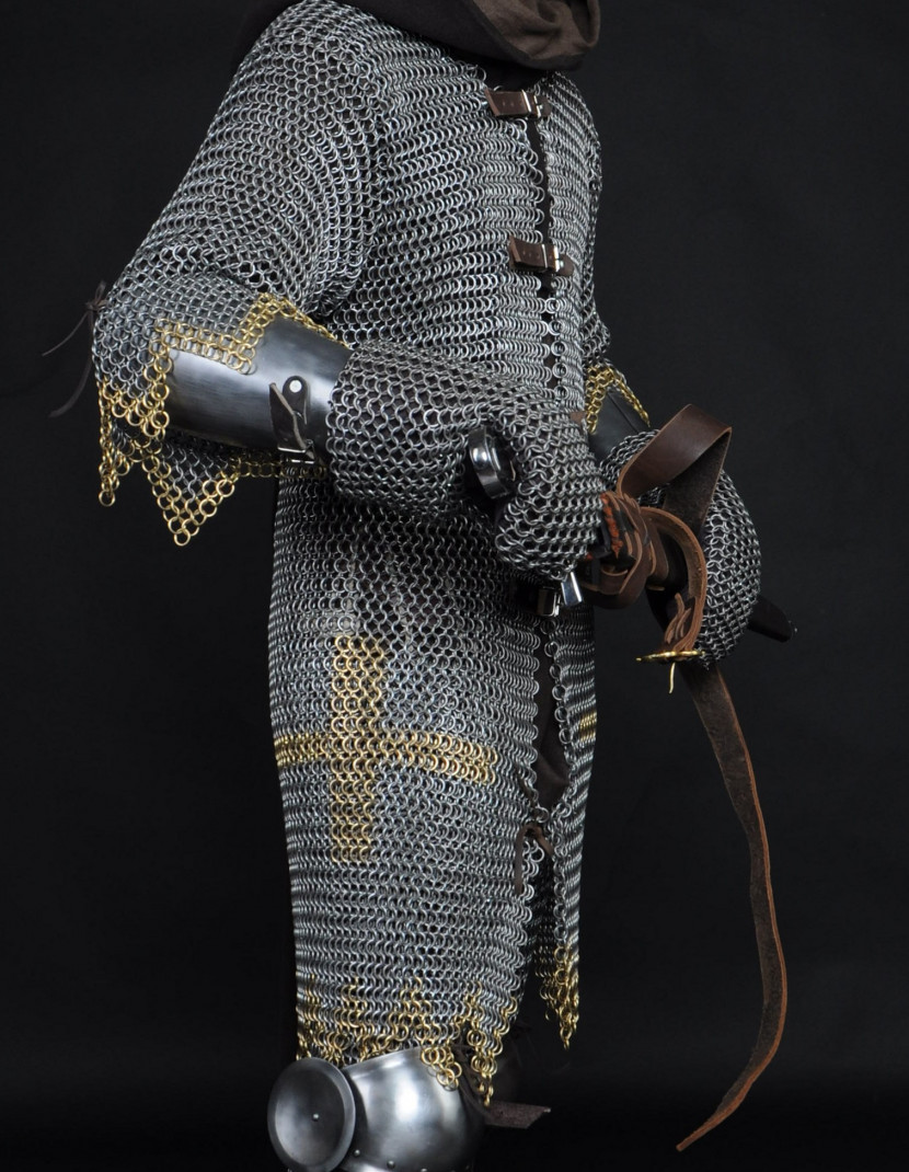 Hauberk with forward fastenings photo made by Steel-mastery.com