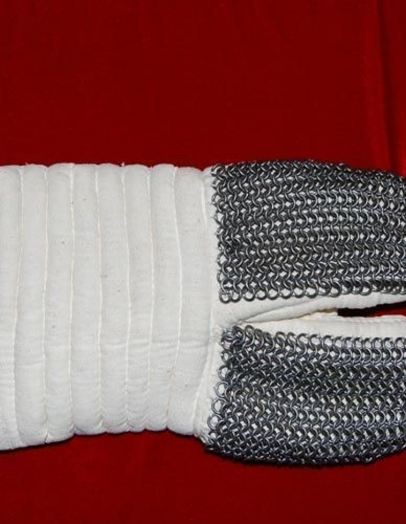 Padded gauntlets with chain mail protection photo made by Steel-mastery.com