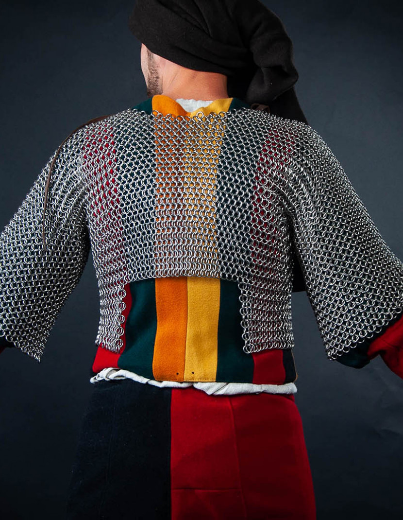 Chainmail camisole for arm doublet for covering armpits photo made by Steel-mastery.com