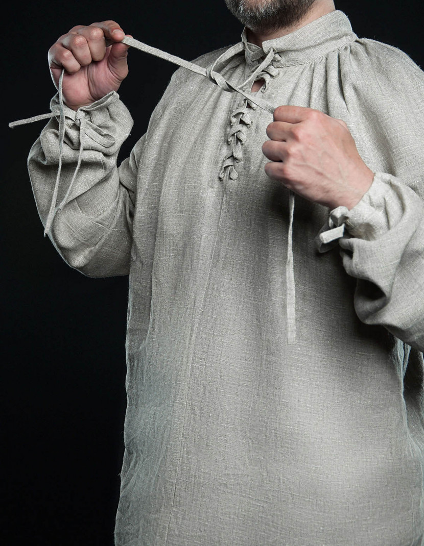 Men's shirt with lacing, XV century photo made by Steel-mastery.com