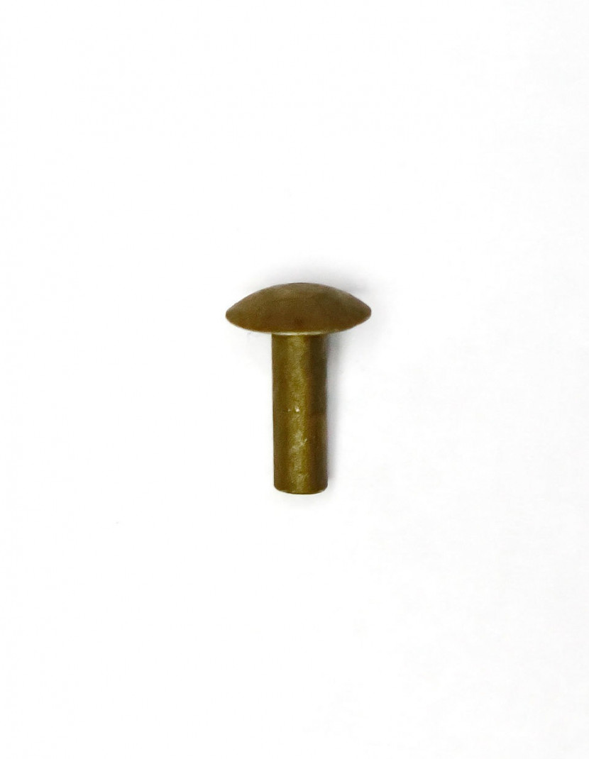 50 brass rivets (8x10mm) photo made by Steel-mastery.com