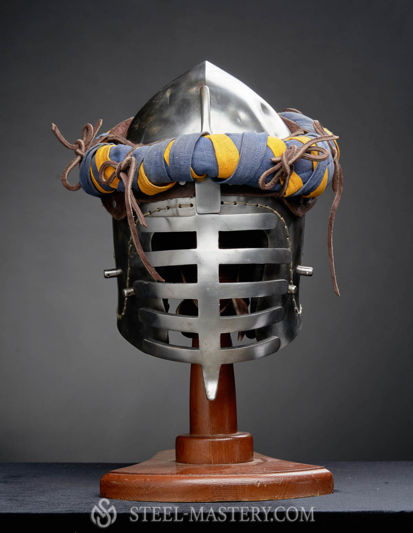 HELMET WITH TORSE  photo made by Steel-mastery.com