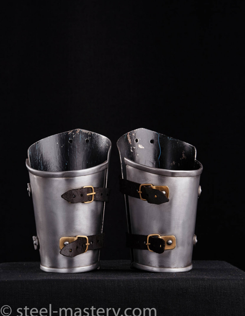STEEL MEDIEVAL BRACERS  photo made by Steel-mastery.com