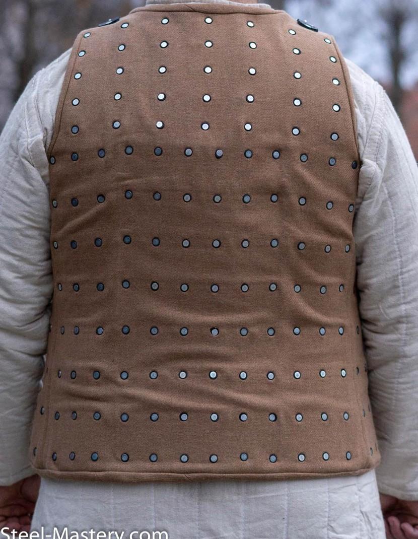 LIGHT BROWN WOOLEN BRIGANDINE XXL photo made by Steel-mastery.com