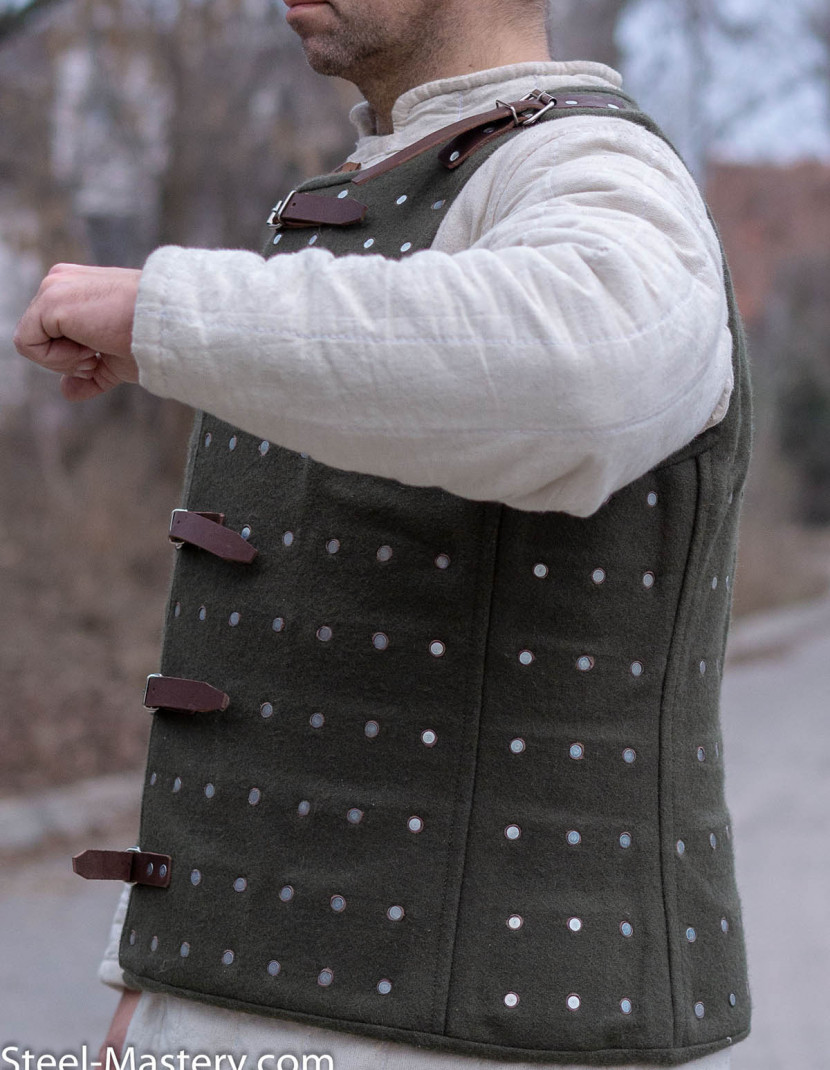 DARK GREEN BRIGANDINE XXL photo made by Steel-mastery.com