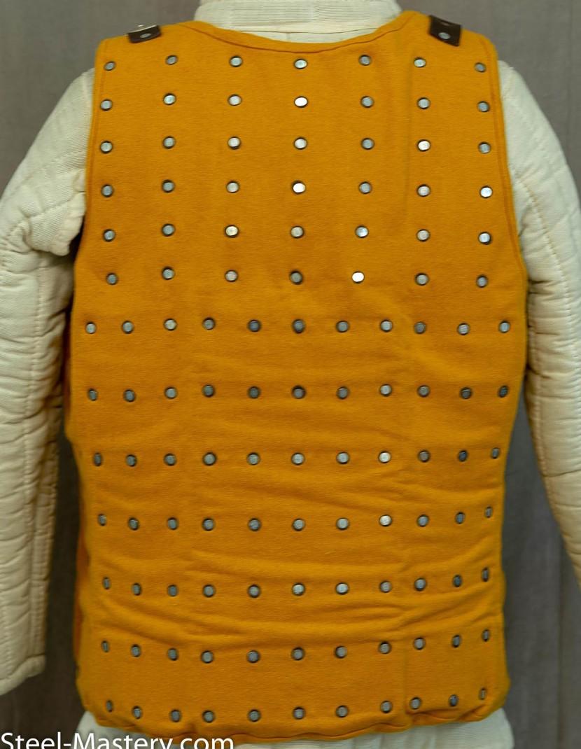 WOOLEN LIGHT HONEY-YELLOW BRIGANDINE XL  photo made by Steel-mastery.com