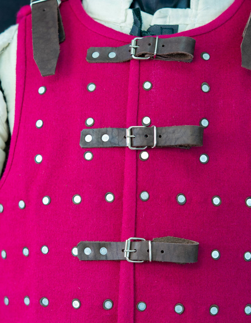 CRIMSON PINK BRIGANDINE XL  photo made by Steel-mastery.com