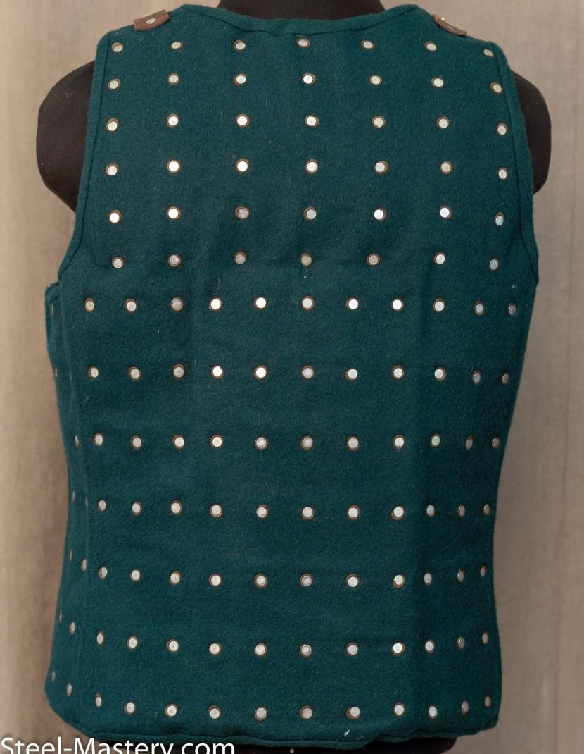 WOOLEN GREEN BRIGANDINE XL photo made by Steel-mastery.com