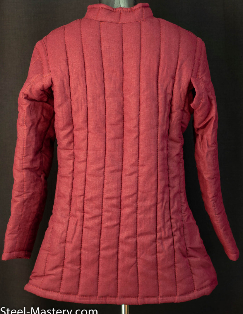 WINE-RED GAMBESON (M-SIZE) photo made by Steel-mastery.com