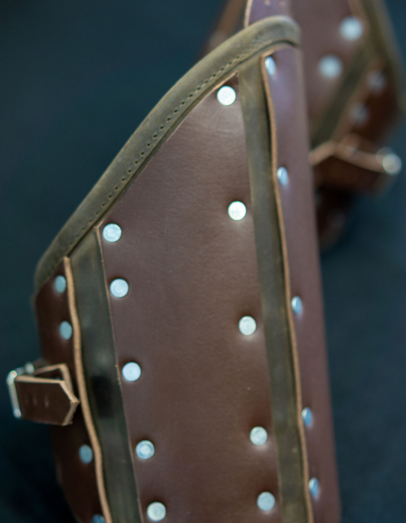 BROWN LEATHER PROTECTION OF UPPER PART OF ARM  photo made by Steel-mastery.com
