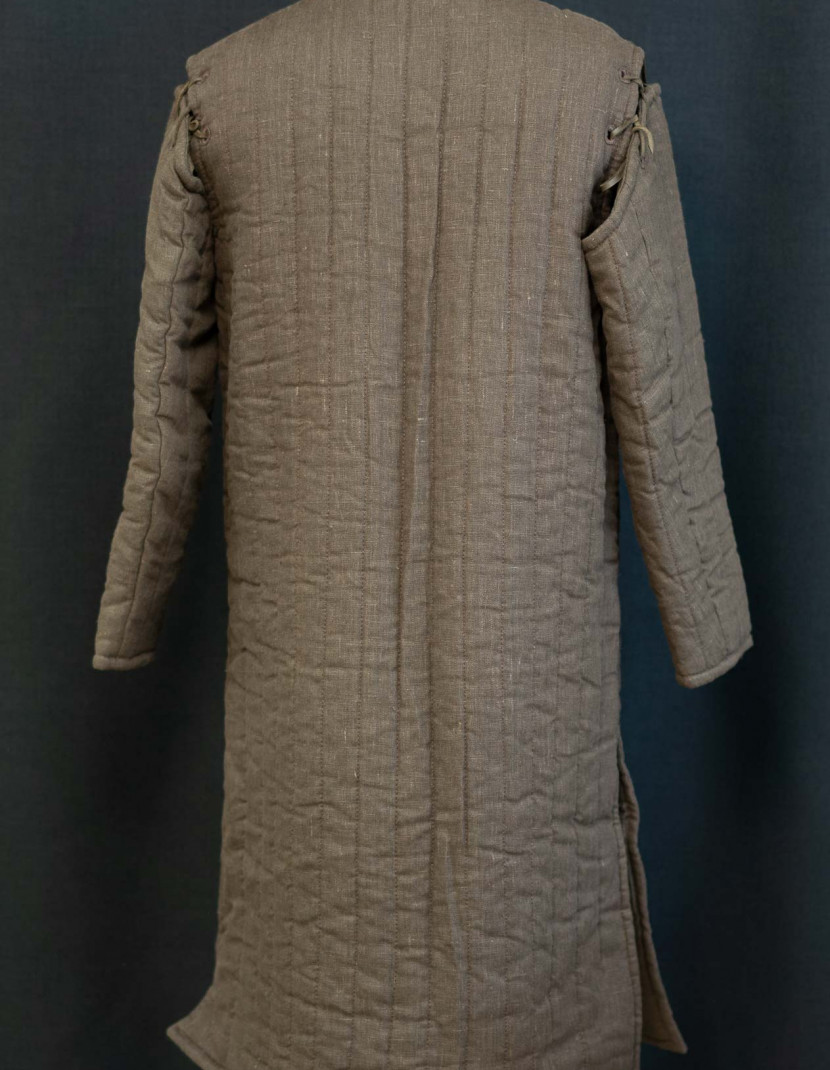 Brown long gambeson XL photo made by Steel-mastery.com