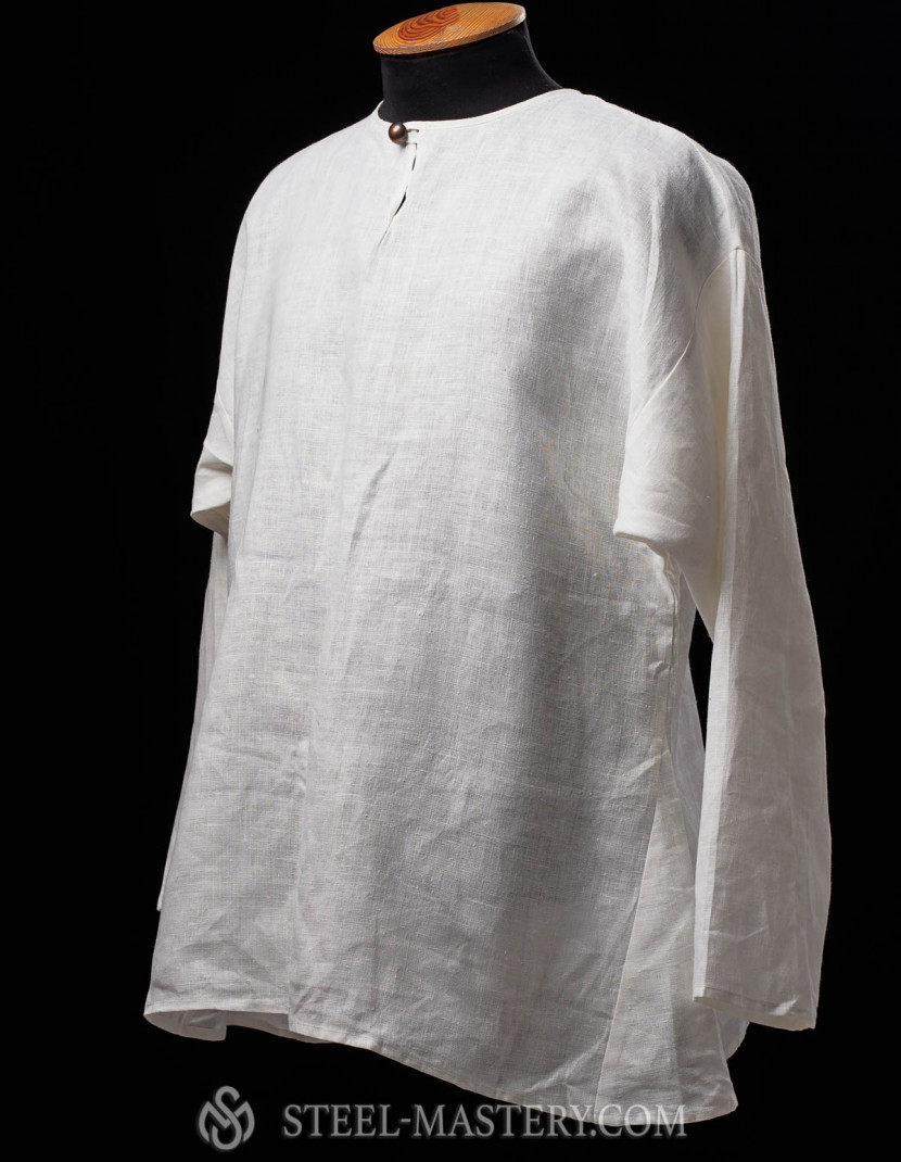 Simple medieval linen shirt  photo made by Steel-mastery.com