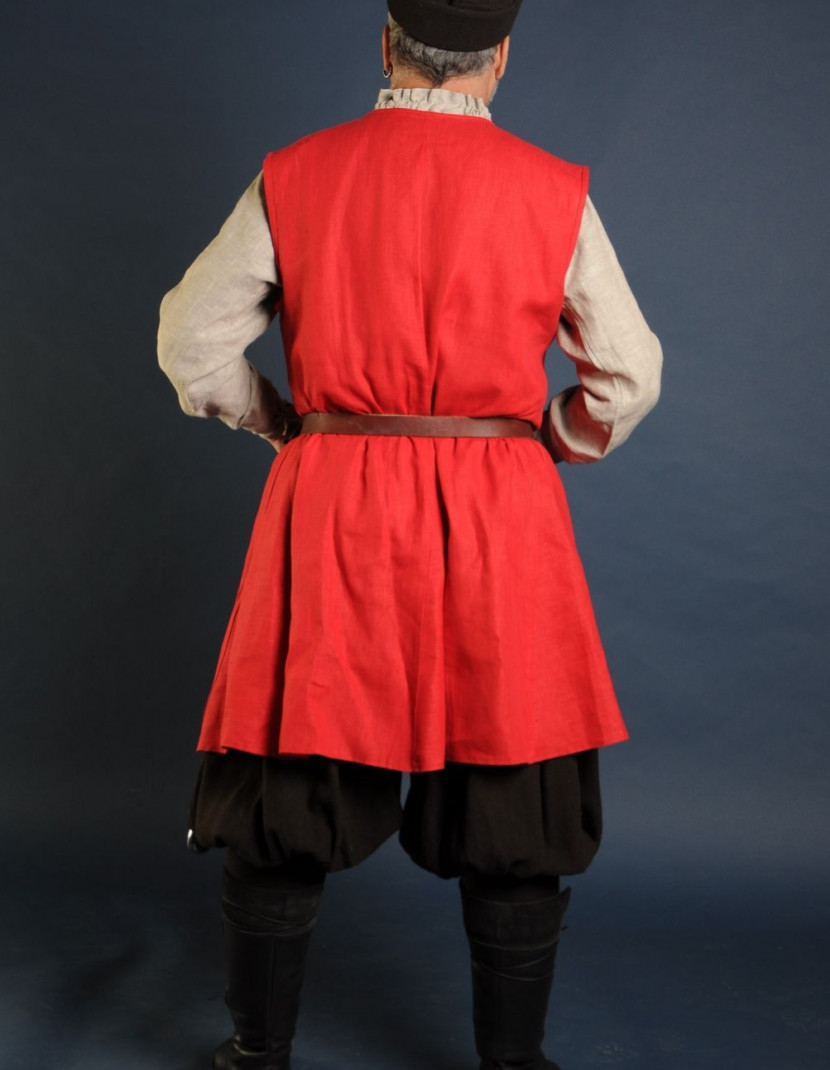 Linen medieval tunic of IX-XII centuries photo made by Steel-mastery.com