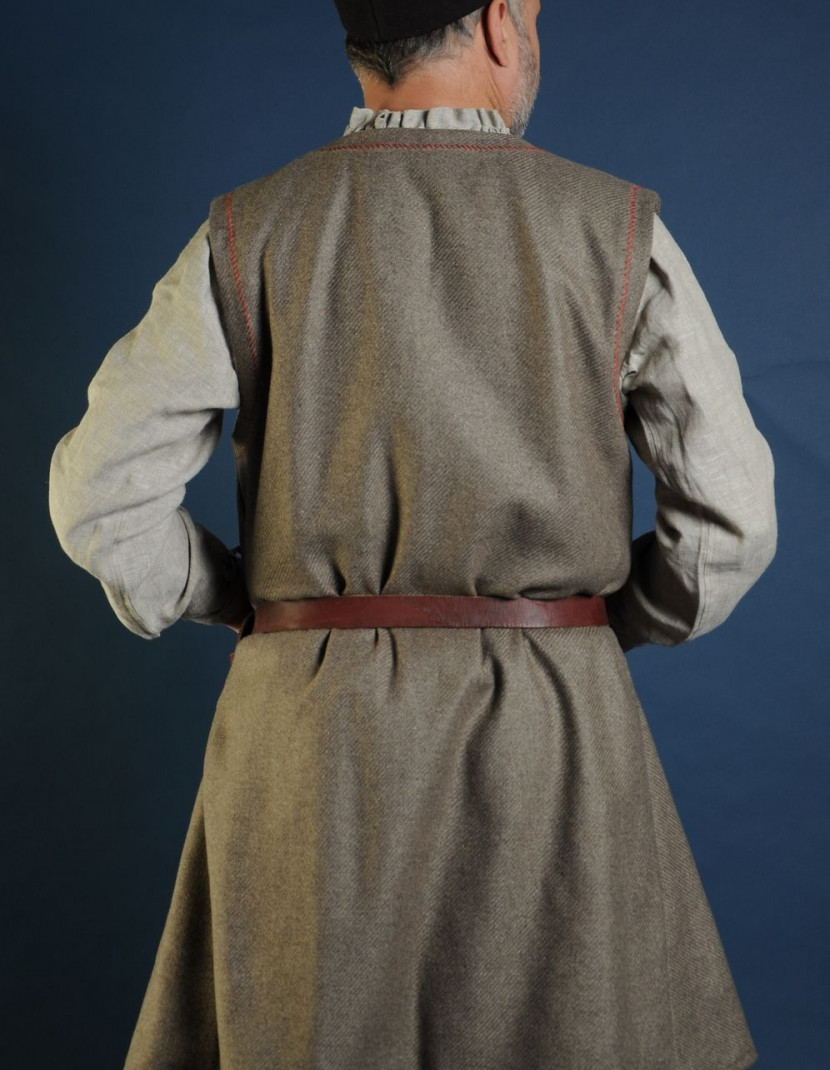 Woolen uncolored  medieval tunic of IX-XII centuries   photo made by Steel-mastery.com