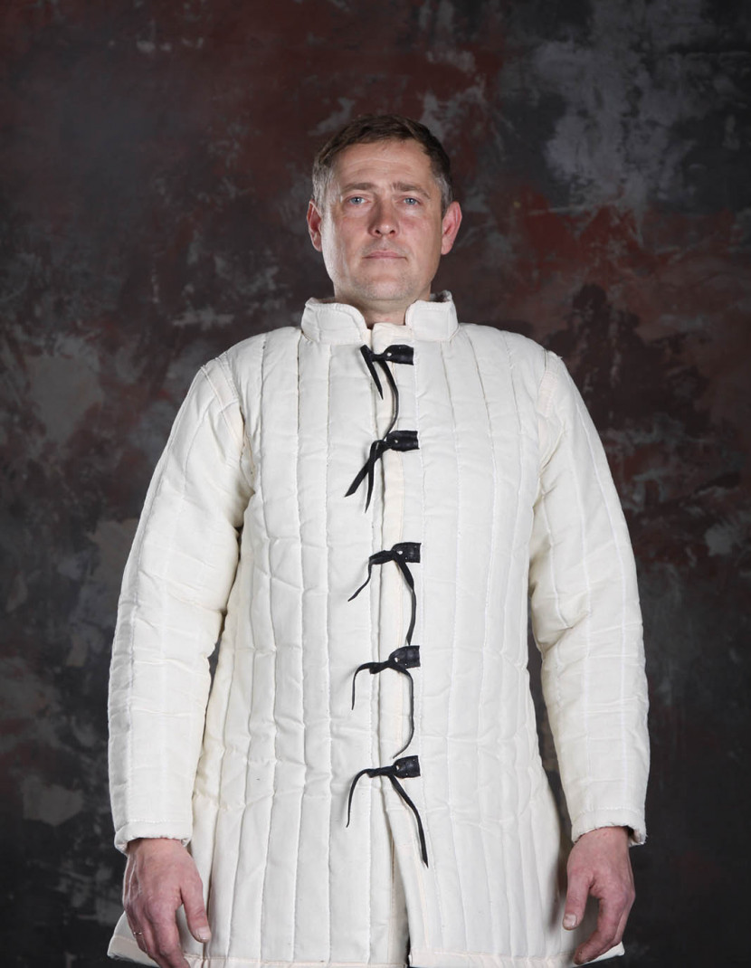 Medieval gambeson 3 layers padding photo made by Steel-mastery.com