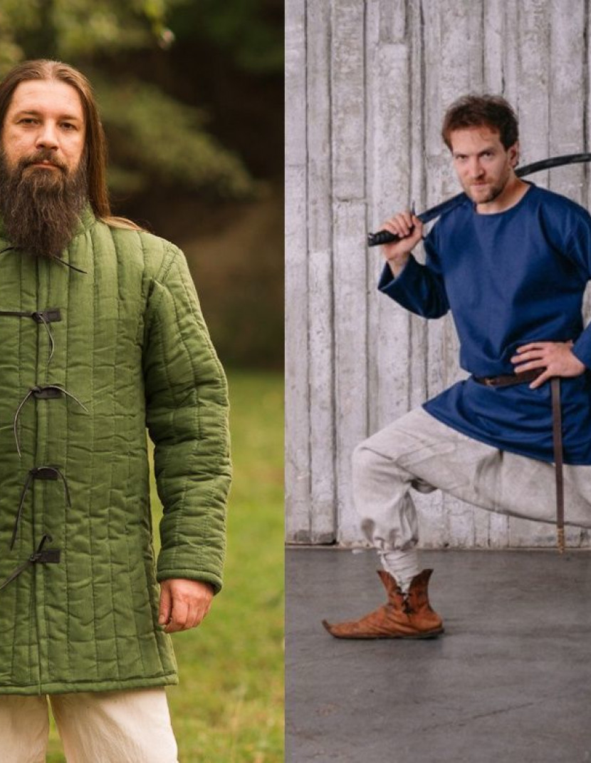 Medieval gambeson and cotton Eastern Pants photo made by Steel-mastery.com