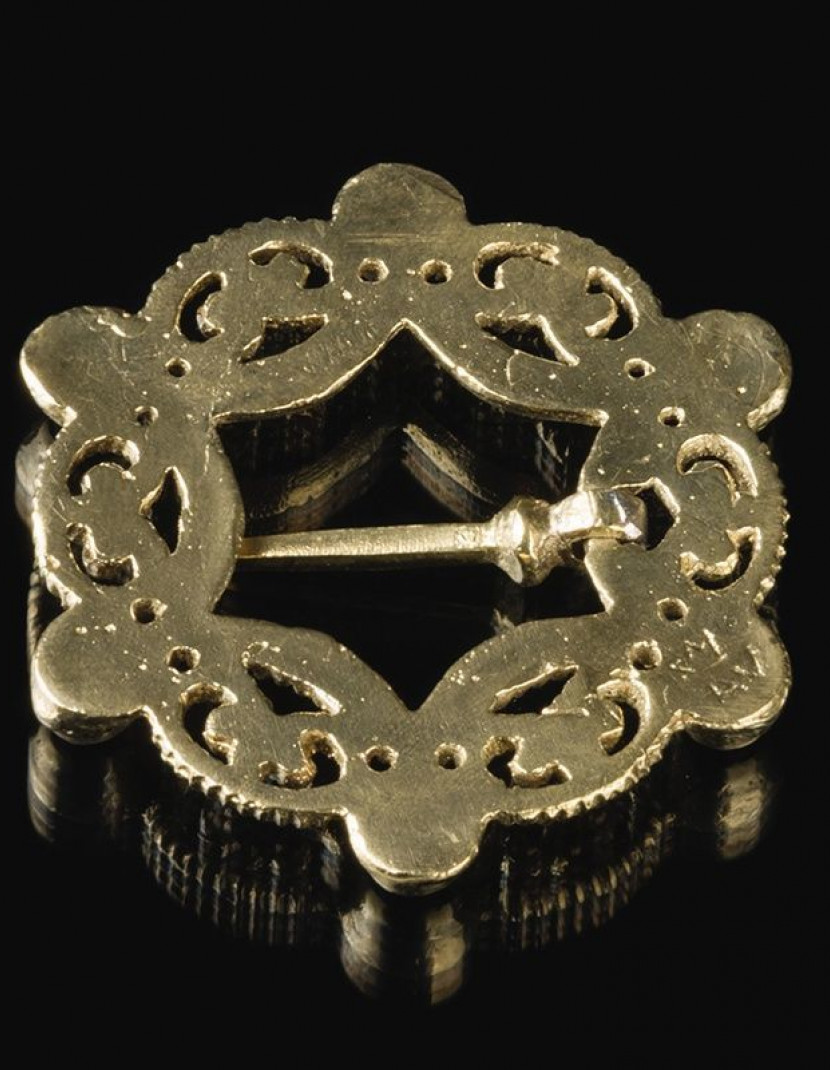 Medieval German brass brooch, XIV century photo made by Steel-mastery.com
