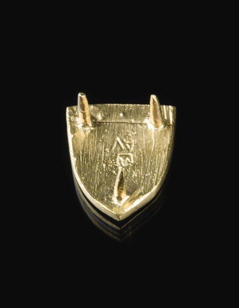 Stylized European belt mount, XIV century photo made by Steel-mastery.com