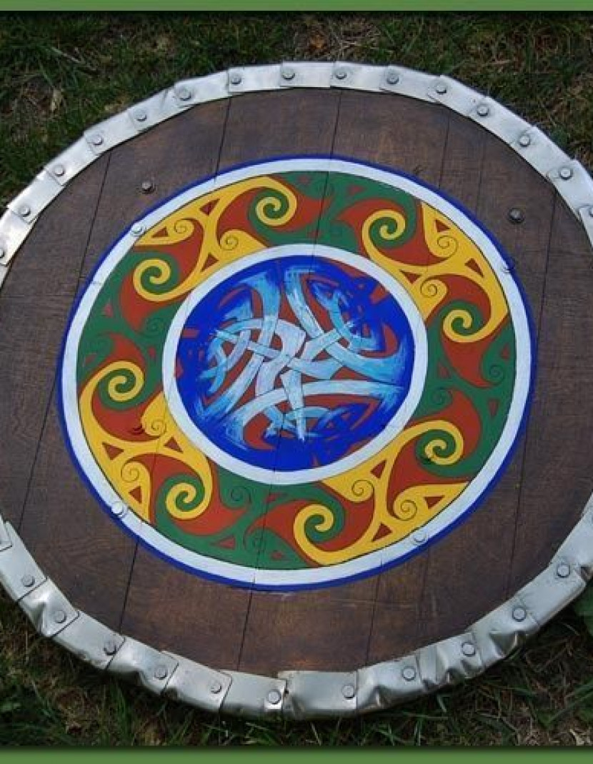Medieval round shield photo made by Steel-mastery.com