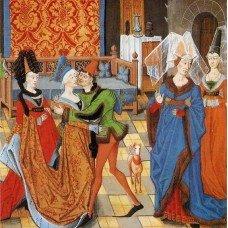 Men's and women's headwears in Burgundia, XV century
