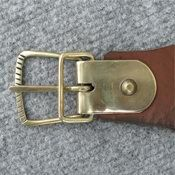 leather straps with handcrafted brass buckles