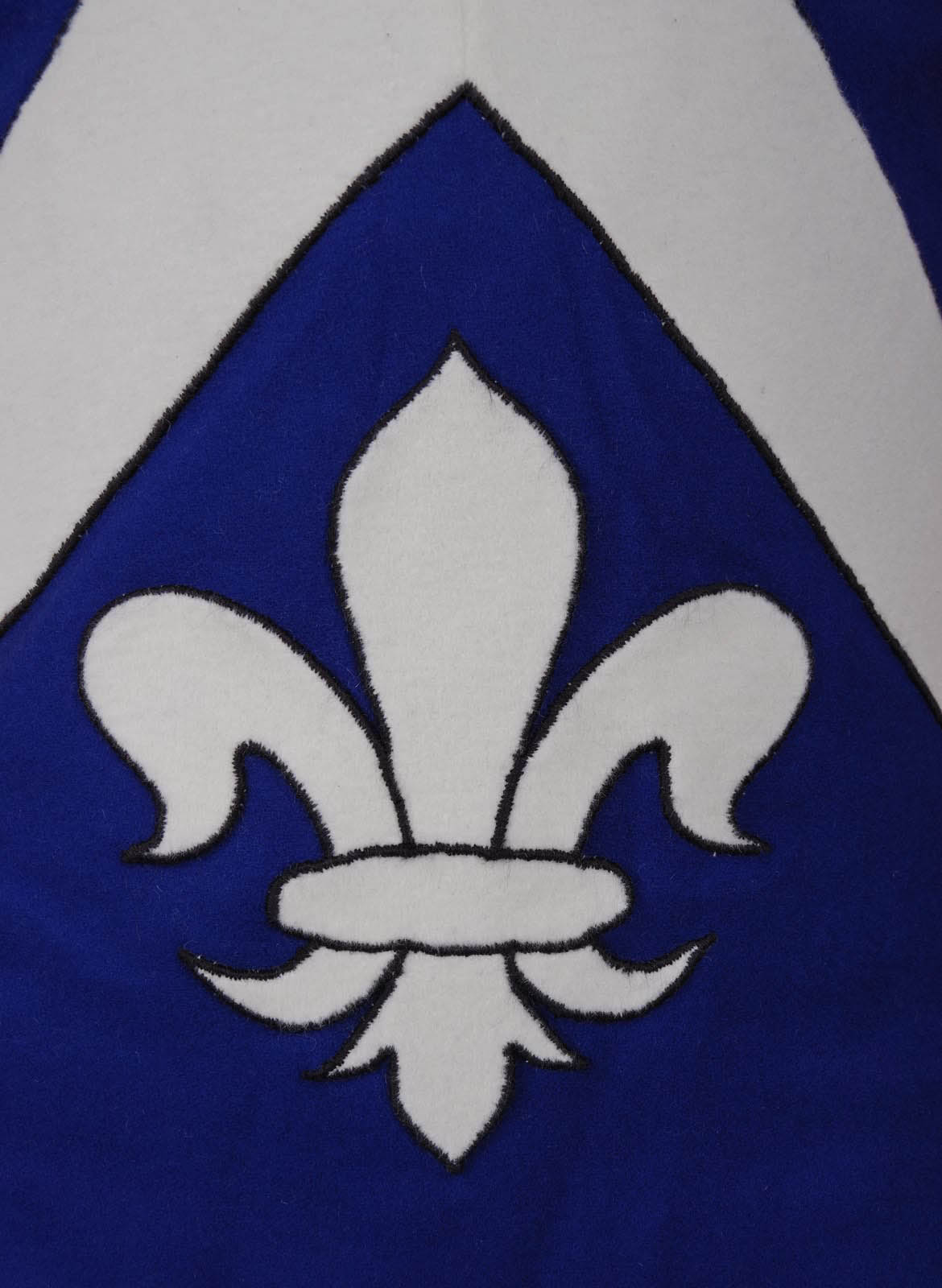 Gambeson blue motto gambeson blue embroidery gambeson by steel mastery