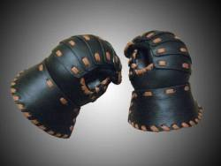 Leather armor leather gauntlets