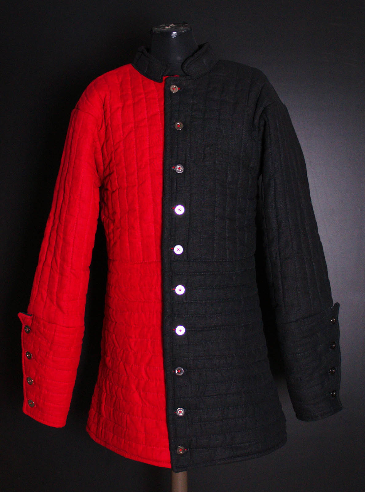 Gambeson, two colored gambeson, gambeson by Steel Mastery