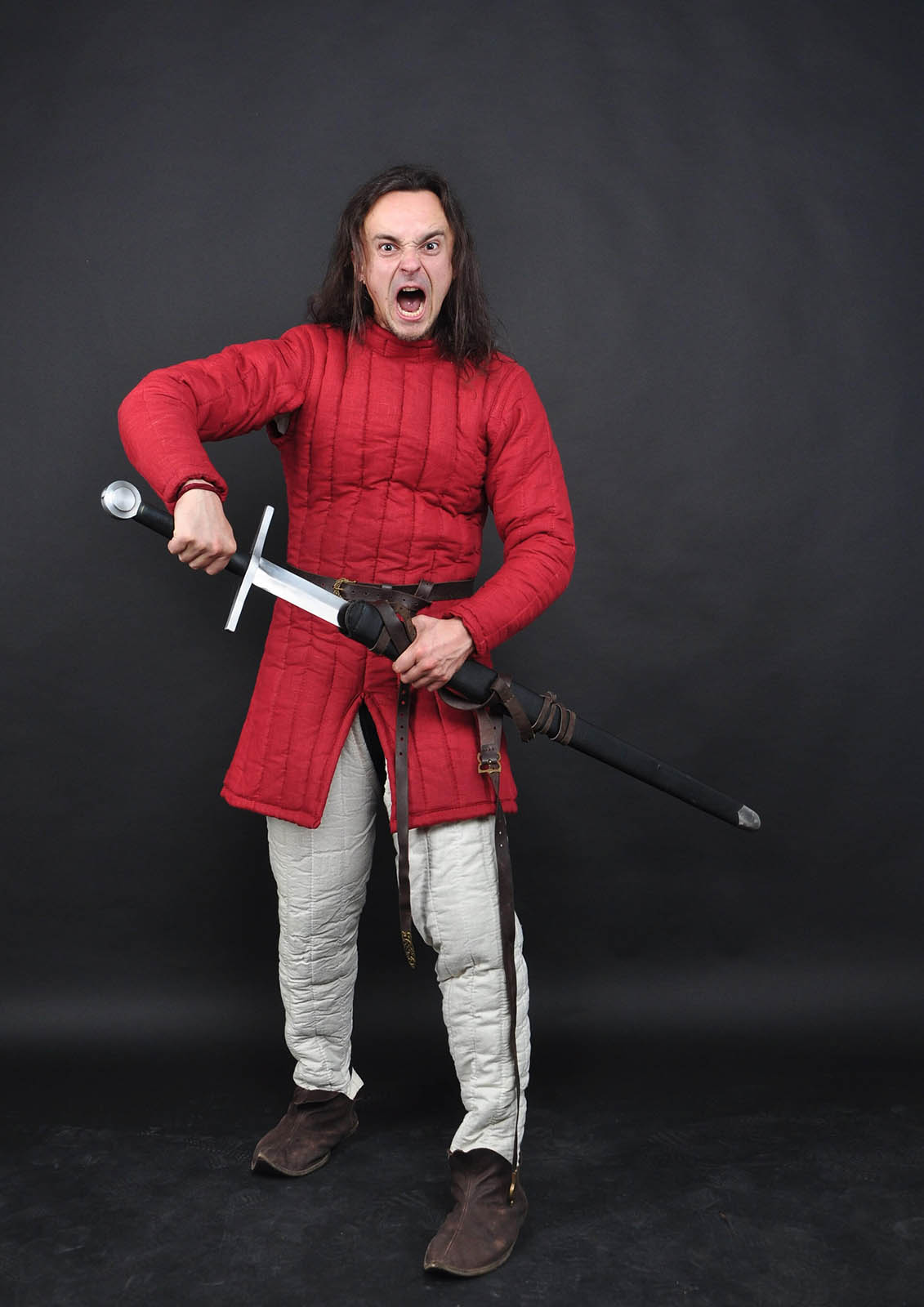 Gambeon, one colored gambeson, gambeson by Steel Mastery