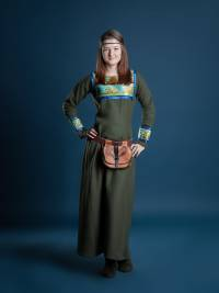 viking green dress viking clothing viking outfit viking womens clothing