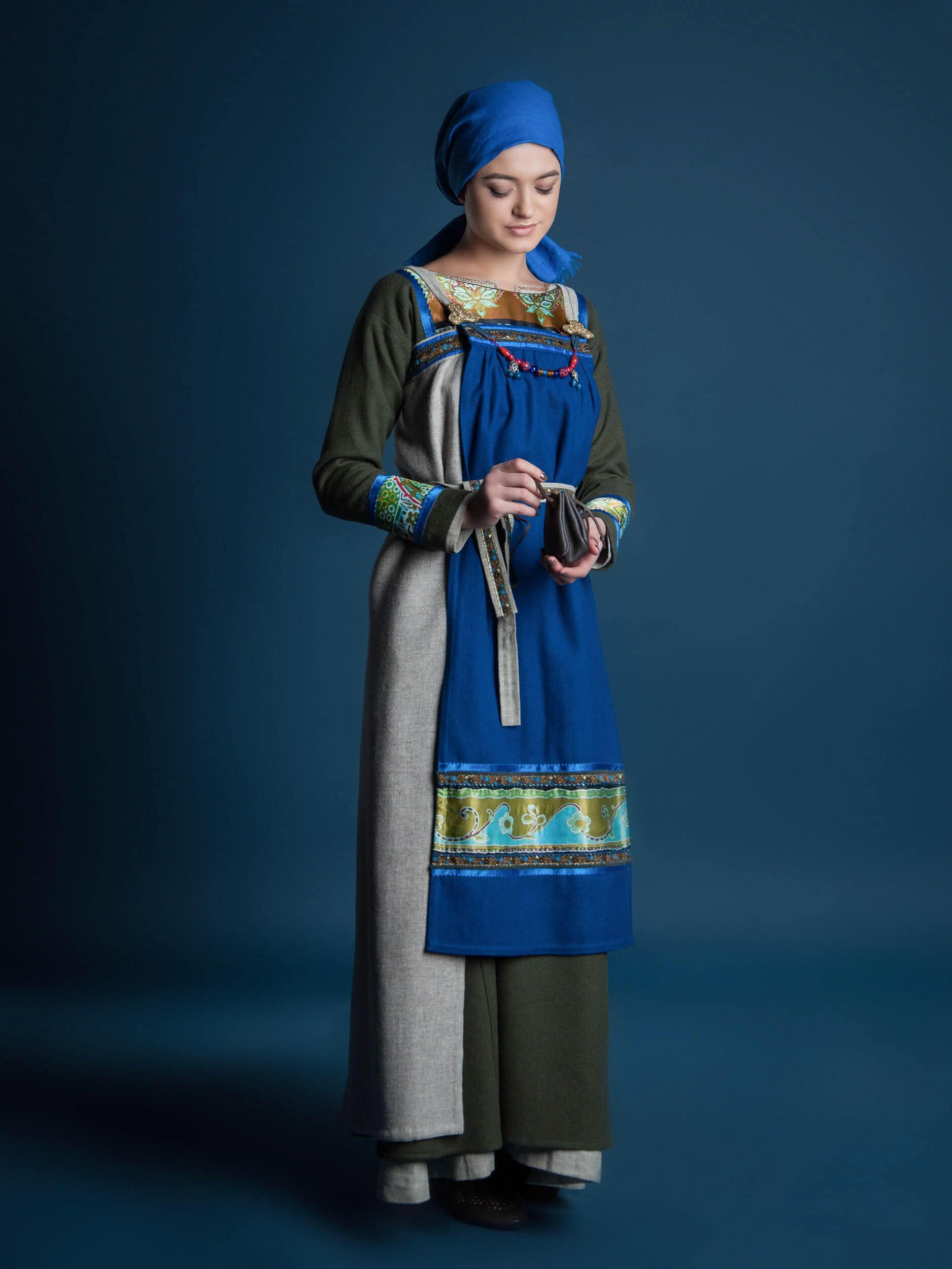 viking blue dress viking clothing viking outfit