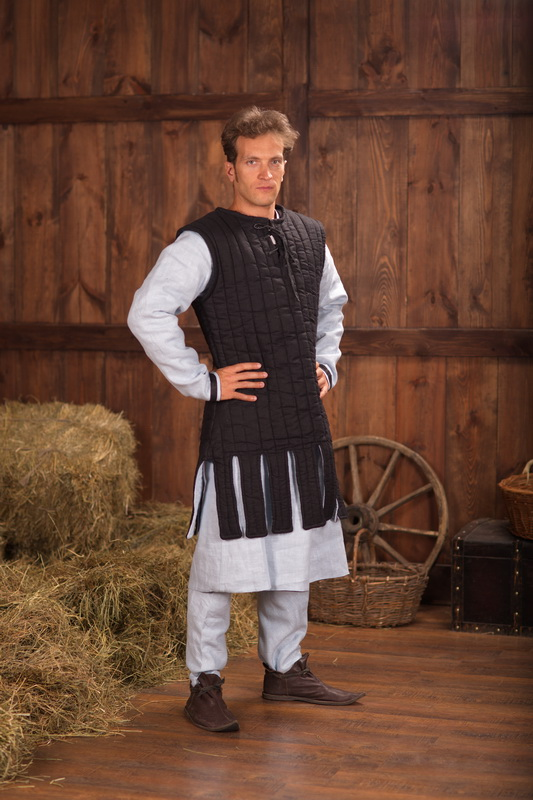 knights sleevless gambeson by steel mastery