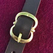 Fastenings: leather straps with cast buckles (e28-a)
