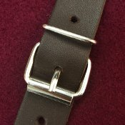 Fastenings: leather straps with steel nickel-plated buckles